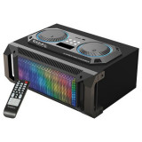 Sound box 2.1, iluminat LED, USB, SD,Bluetooth, FM, AUX, 200 W
