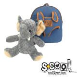 Ghiozdan gradinita BABY ANIMALS ELEPHANT, 30x23x8cm - S-COOL