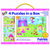 Set 4 puzzle-uri Zane (12, 16, 20 24 piese) PlayLearn Toys