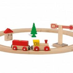 Set tren si sina circulara din lemn Eichhorn