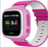 Ceas pentru copii cu GPS Tracker , culoare roz , cu locas SIM