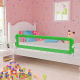 VidaXL Balustradă de protecție pat copii, verde, 180x42 cm, poliester