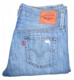 Blugi Dama Levis Jeans LEVI'S 501 - MARIME: 24 W - (Talie = 80 CM), Lungi, Albastru