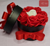 Aranjament floral din trandafiri de săpun