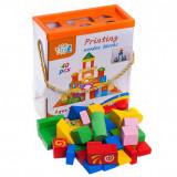 Cumpara ieftin Set 40 cuburi colorate si desenate cu sortator