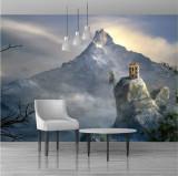 Fototapet peisaj fantezie 555 x 255 cm - Hartie blueback fara adeziv