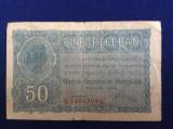 Bancnote România - 50 bani 1917 Banca Generală Română - BGR - seria E 14603064