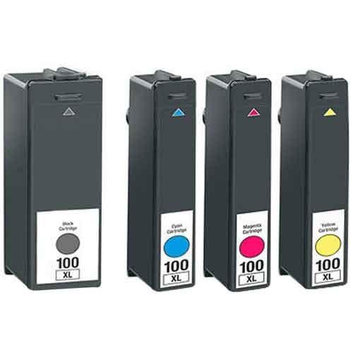 Set 4 cartuse Lexmark 100XL compatibile