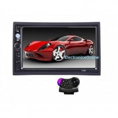 2Din mp5 player auto universal 7010B Navigatie MirrorLink Bluetooth Telecomanda volan