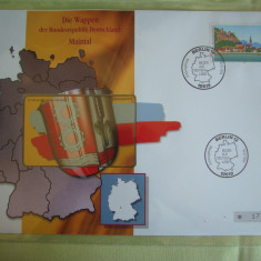 Cartela Telefonica + FDC Germania Maintal - Exponat Numerotat