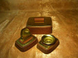 Set birou Mid Century Modern mahon alama cadou vintage