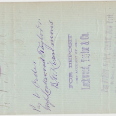 CHECK KENTON SAVINGS BANK 1886 VF WTMK