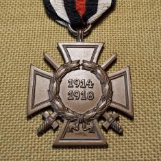 1914 1918 Crucea de Onoare Hindenburg Medalie Germania WW1 veche germana JK