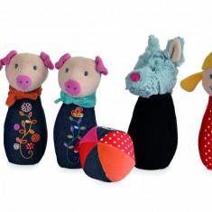 Popice textile cu clopotei - Popice din povesti Egmont, 5 piese
