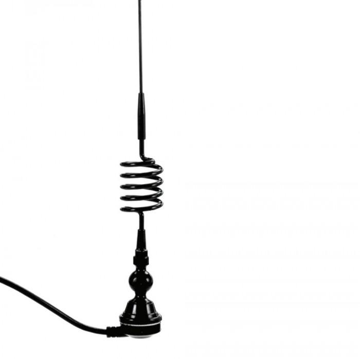 Antena auto Carpoint, cu arc, culoare neagra, unghi ajustabil, lungime cablu 1.3 metri Kft Auto