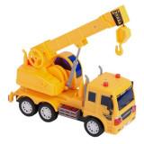 Camion interactiv de jucarie, model cu macara, galben, 28x9x19 cm