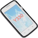 Cumpara ieftin Husa Telefon Silicon+Folie Plastic Huawei Ascend y330 Black S-line