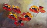 Tablou ulei (15/25cm)-MACI, Flori, Impresionism