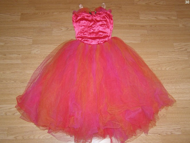 costum carnaval serbare rochie dans balet gala pentru copii de 7-8 ani