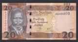 A3045 South Sudan Sudanul De Sud 20 pounds 2017 UNC