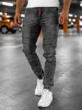 Cumpara ieftin Blugi cargo joggers negri bărbați Bolf HY684