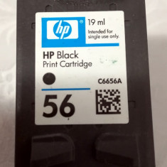 Cartus original HP 56 (C6656A) 16 ml, negru - gol, pentru refill