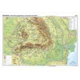 Romania. Harta fizico-geografica si a resurselor naturale de subsol - CR-3101B 140x100 cm
