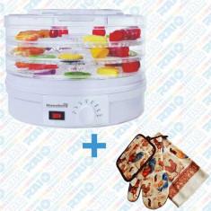 Deshidrator pentru alimente cu 4 tăvi detașabile și termostat reglabil, 230-260 W