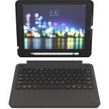 Husa cu tastatura iluminata ZAGG Slim Book Go pentru Apple iPad 10.2, Black