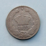 ROMANIA  -  50 Bani 1873  -  Argint 2.5 g