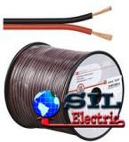 Cablu difuzor, rola 100m, rosu/negru, 2 x 0,50 mm²