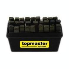 Trusa pansoane cu litere pentru gravare tabla CRV Topmaster Profesional