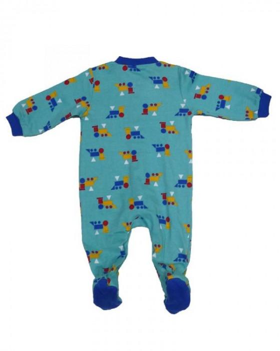 Salopeta / Pijama bebe cu trenulete Z92