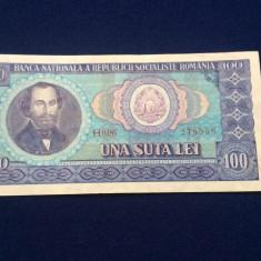 BANCNOTE ROMANIA - 100 LEI 1966 - SERIA 2785569 (starea care se vede)
