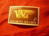 Timbru Vietnam Sud 1952 - Aviatie , val.4$ stampilat