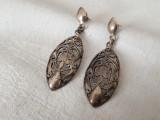 CERCEI argint VICTORIENI traforati MANUAL superbi VECHI de efect RARI vintage