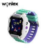 Ceas Smartwatch Pentru Copii Wonlex KT03 cu Functie Telefon, Localizare GPS, Camera, Pedometru, SOS, IP67 - Alb - Verde