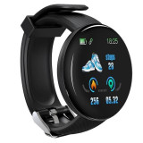 Bratara Fitness Smartband Techstar® D18 Waterproof IP65, Incarcare USB, Bluetooth 4.0, Display Touch Color OLED, Negru