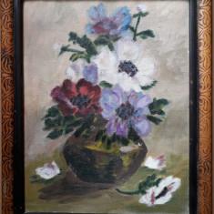 Flori – pictură pe pânză, Ulei, Impresionism