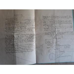 ACTE NOTARIALE VECHI - MARCA FIXA - TIMBRU SEC - FILIGRAM