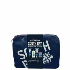 Set cadou South Bay: Gel de dus, 120ml + Aftershave Balsam, 100ml + Gel pentru curatarea fetei, 100ml + Prosop