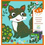 Set creativ de răzuit Djeco, Animale prietenoase, 4-6 ani, Unisex