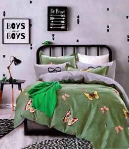 Lenjerie de pat din Bumbac 2 persoane 4 piese HX 30