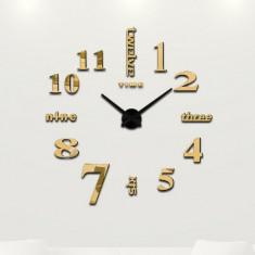 Ceas de perete 3D auriu DIY WZ1182
