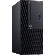 Sistem Desktop PC Dell OptiPlex 3060 MT cu procesor Intel® Core™ i3-8100 3.60 GHz, Coffee Lake, 4GB, Intel® UHD Graphics 630, 256GB SSD, DVD-RW, Ubunt