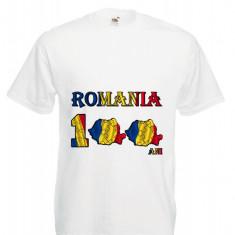 """TRICOU PERSONALIZAT IMPRIMEU DTG """"ROMANIA 100 ANI"""""""