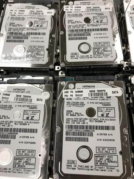 HDD laptop 320GB SATA 7200 rotatii garantie WD/Toshiba/Hitachi Slim 7mm