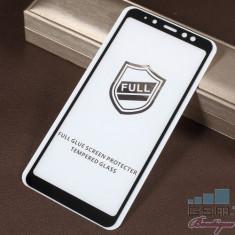 Folie Sticla Samsung Galaxy A8 Plus 2018 Acoperire Completa Neagra