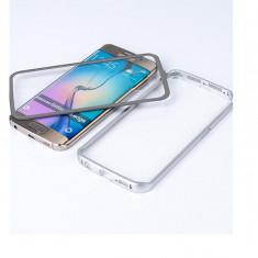 Husa Bumper Aluminiu Metalic + Plastic Samsung Galaxy S6 Edge g925 Silver