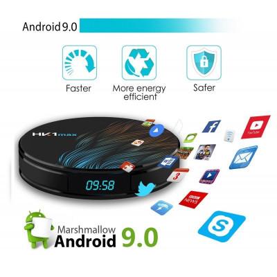 Media Player HK1 MAX Android 9.0, Smart TV Box 4K, 2gb/16gb, Wifi, limba Romana, Netflix subtitrare in romana foto